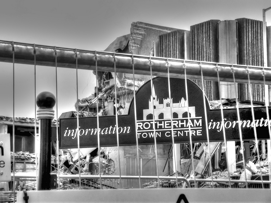 Rotherham Town Centre sign