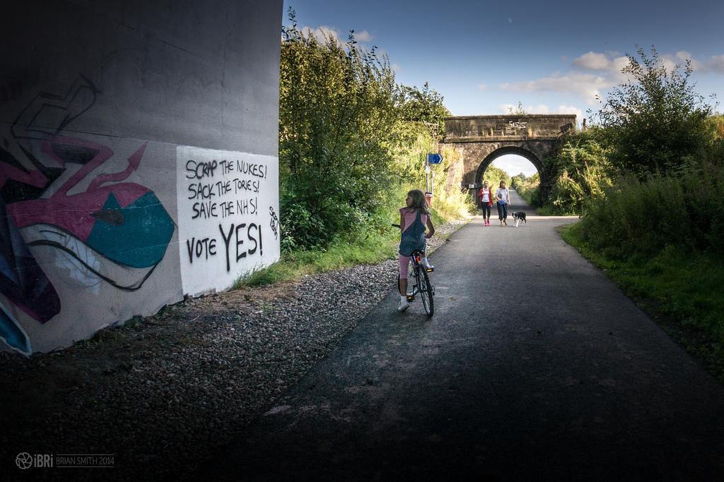 Vote Yes graffitti