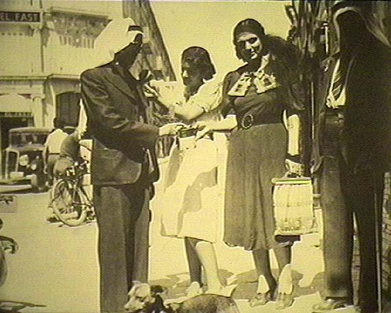 Palestinian women collecting money for the revolt