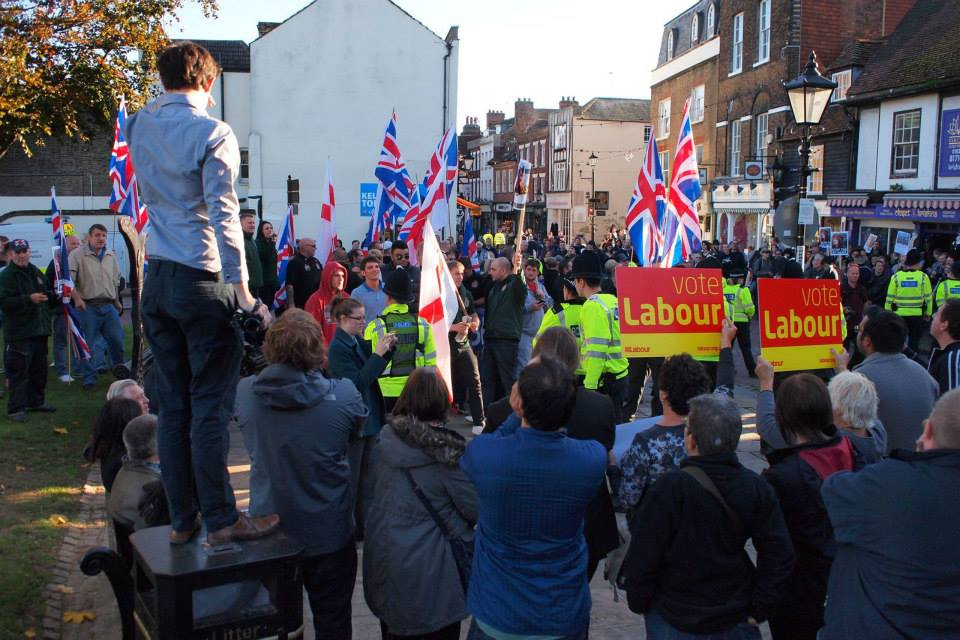 Protest against Britain First