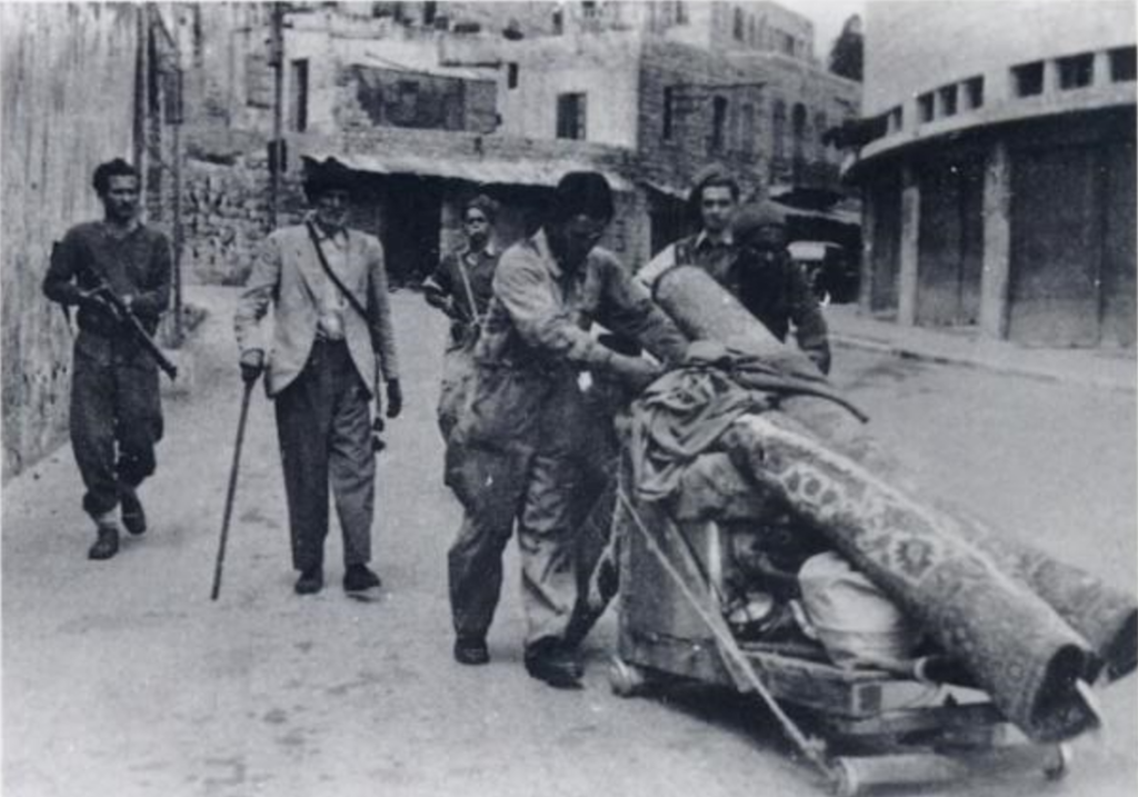 Refugees leaving Haifa