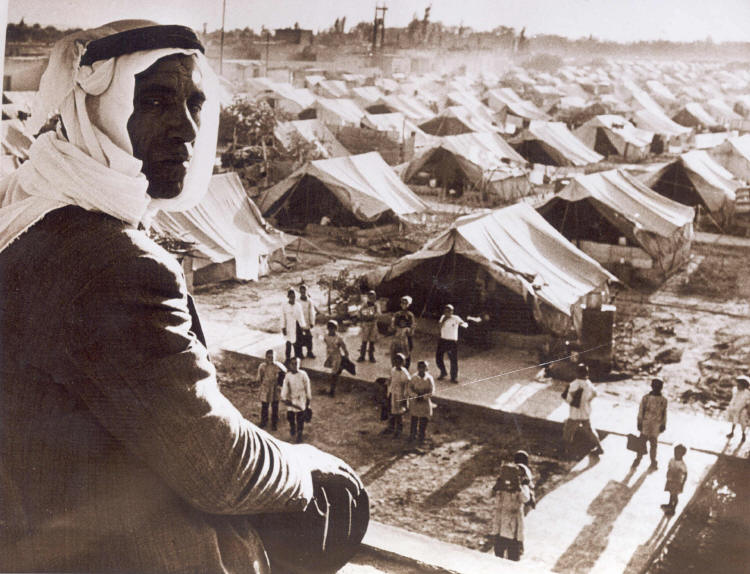 Palestinian refugee camp near Damascus