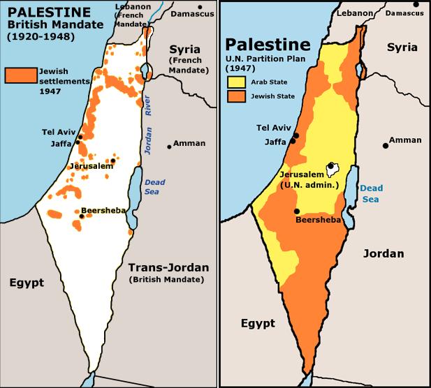 The UN partition plan for Palestine