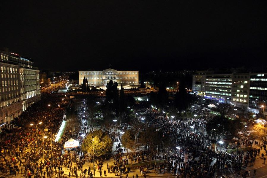 Syntagma Square rally, Athens 11/2/15