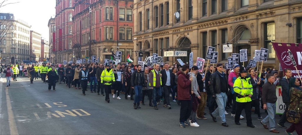 UAF march in Manchester