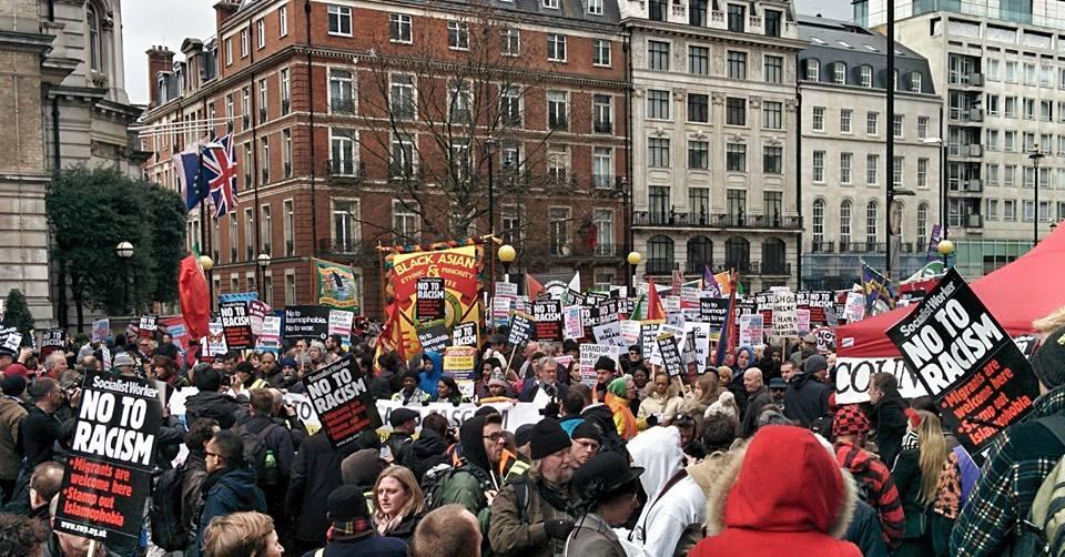 An anti-racist demo