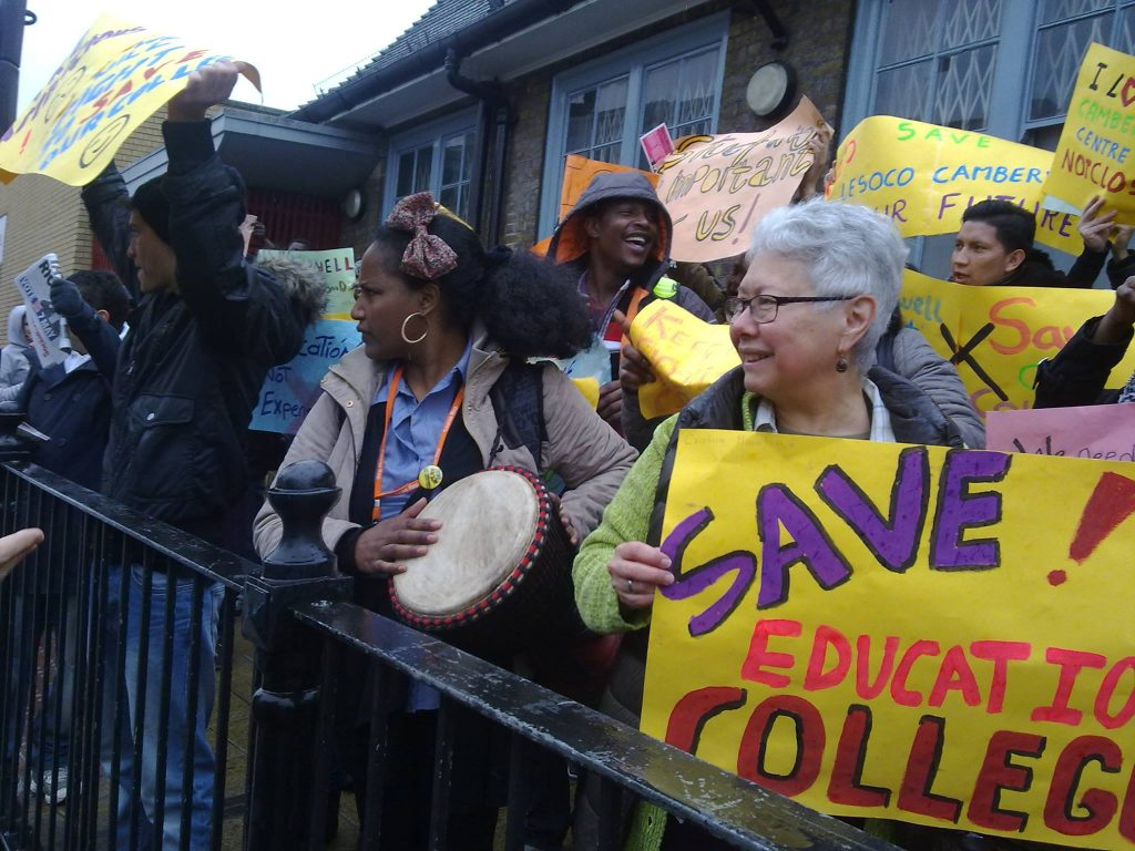 Protest at Lewisham Southwark College