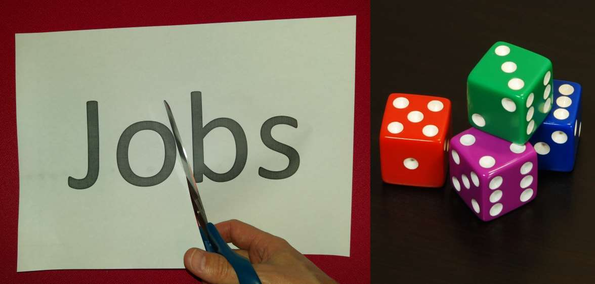 Cutting jobs; dice