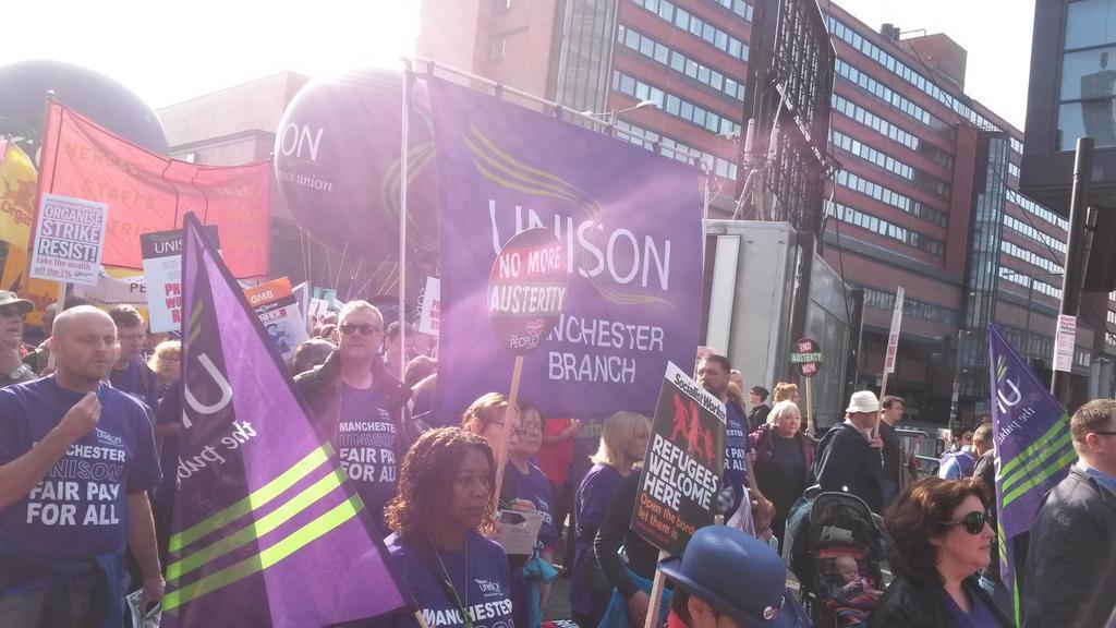 Manchester UNISON banner