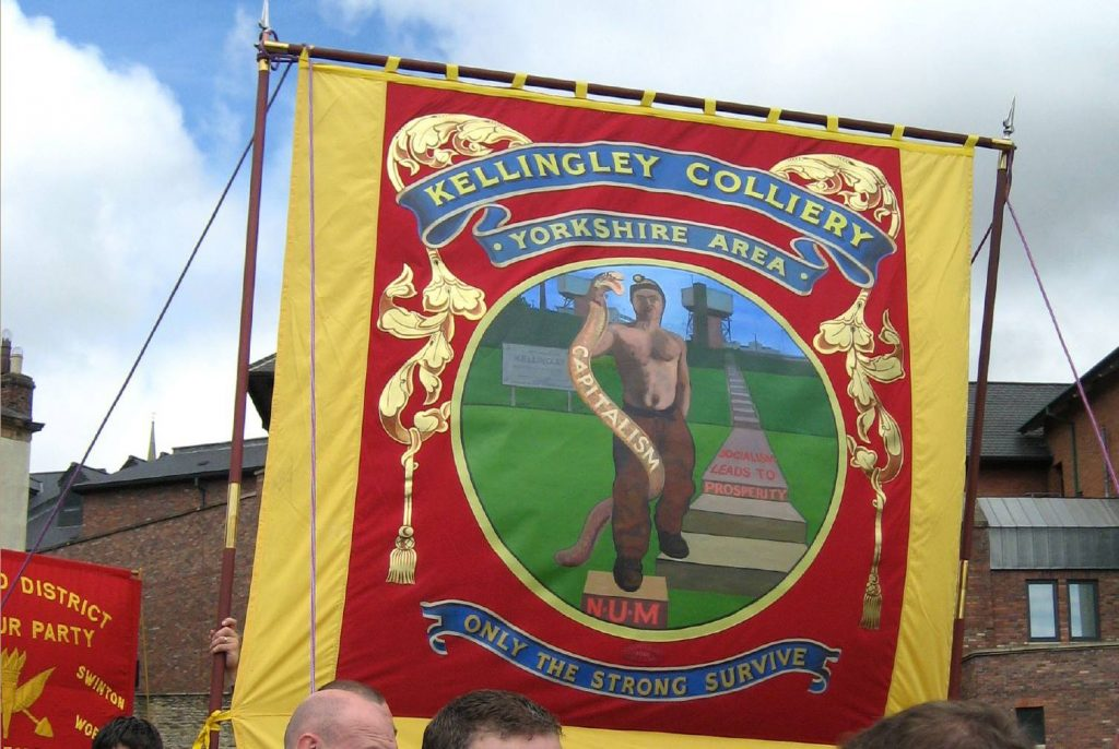 Kellingley miners' banner