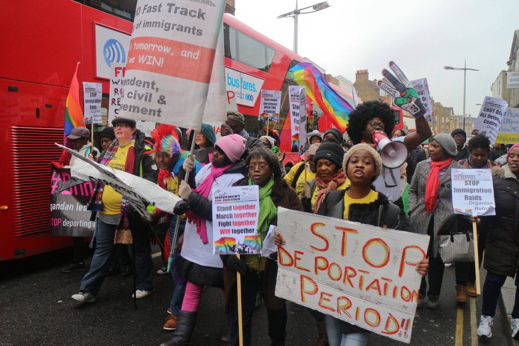 Protesters march against deportations