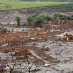 Collapsed Brazilian dam in Mariana province