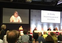 Jo Grady, incoming General Secretary
