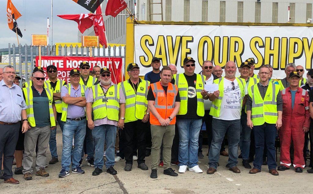 Inquiétudes sur le devenir de Harland & Wolff  Save-Our-Shipyard-e1565021353605
