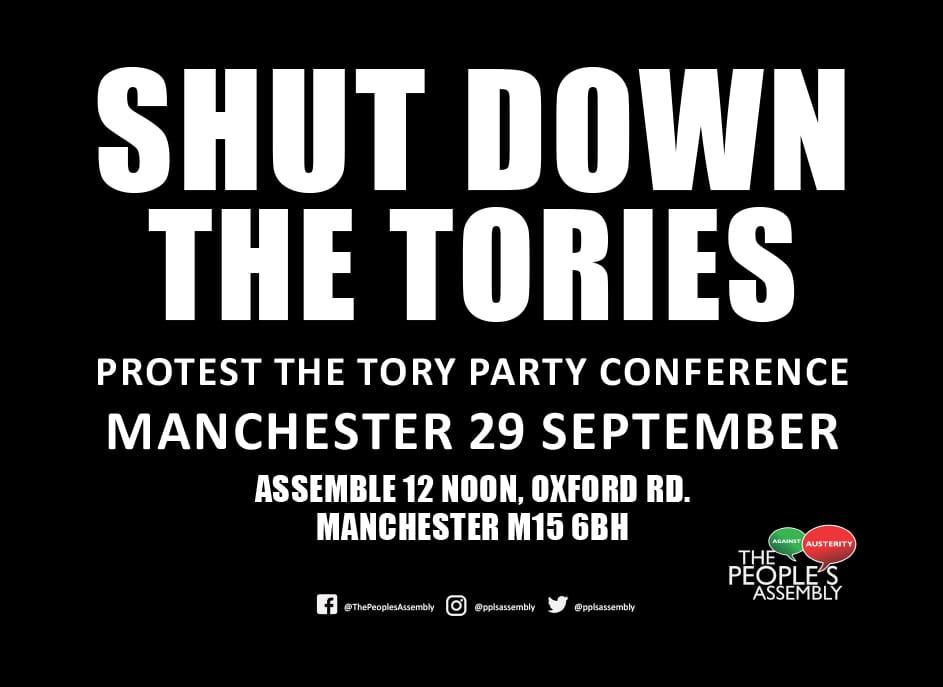 Shut down the Tories 29 Sept