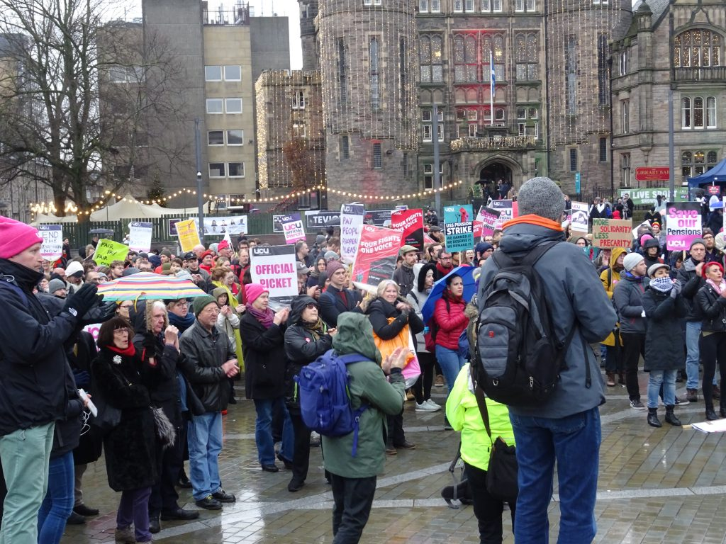 Edinburgh strike rally