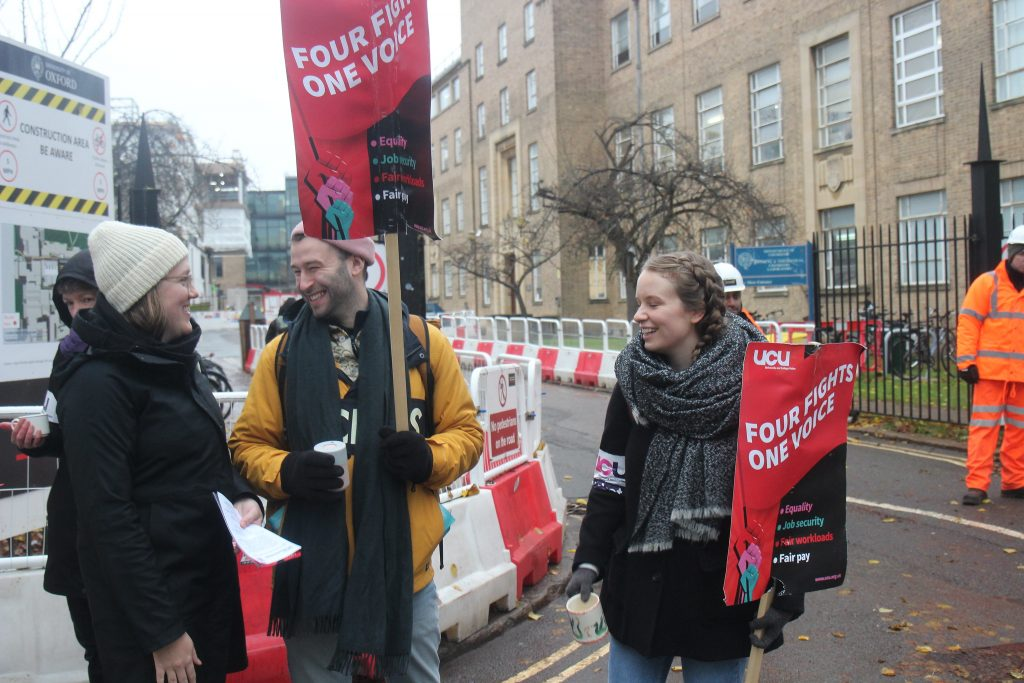 Picket line conversation