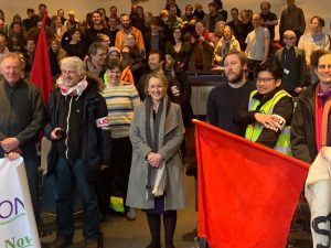 Rebecca Long-Bailey with strikers