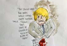 Boris Johnson blood on his hands