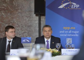 Viktor Orban at the European Parliament.