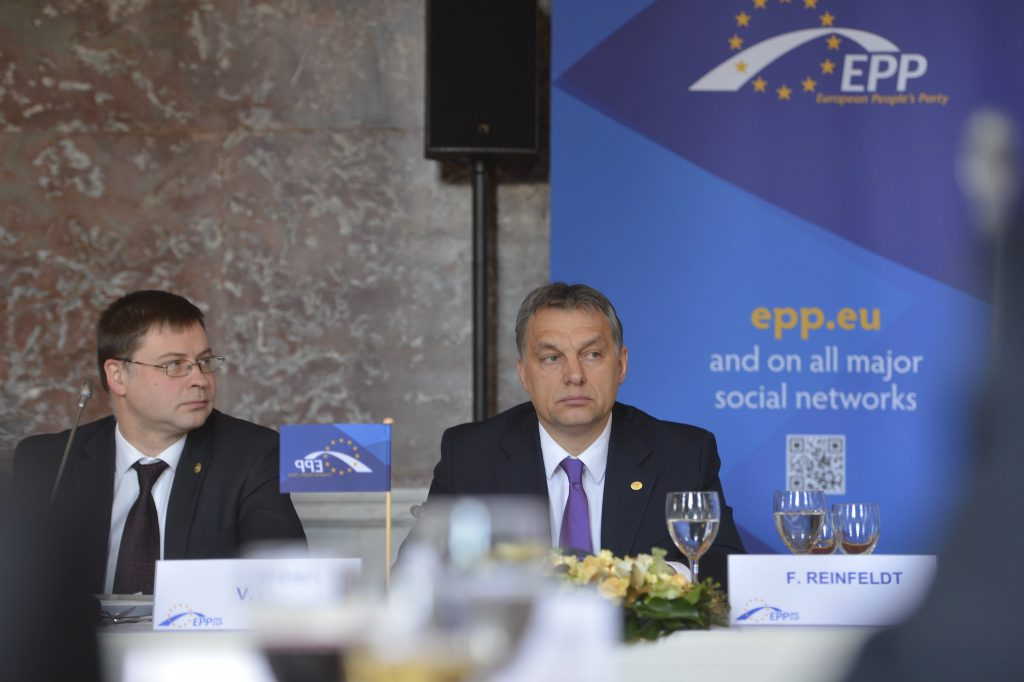 Viktor Orban at the European Parliament.