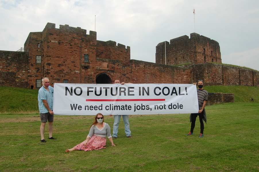 Carlisle Climate campaigners protest a proposed new coal mine