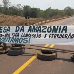 Members of the Kayapó Mekragnotire people blockade an attempted land encroachment in the state of Pará.