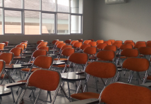 An empty classroom. Keywords: school schools reopening Covid NEU safety safe