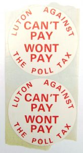 Anti-poll tax badges
