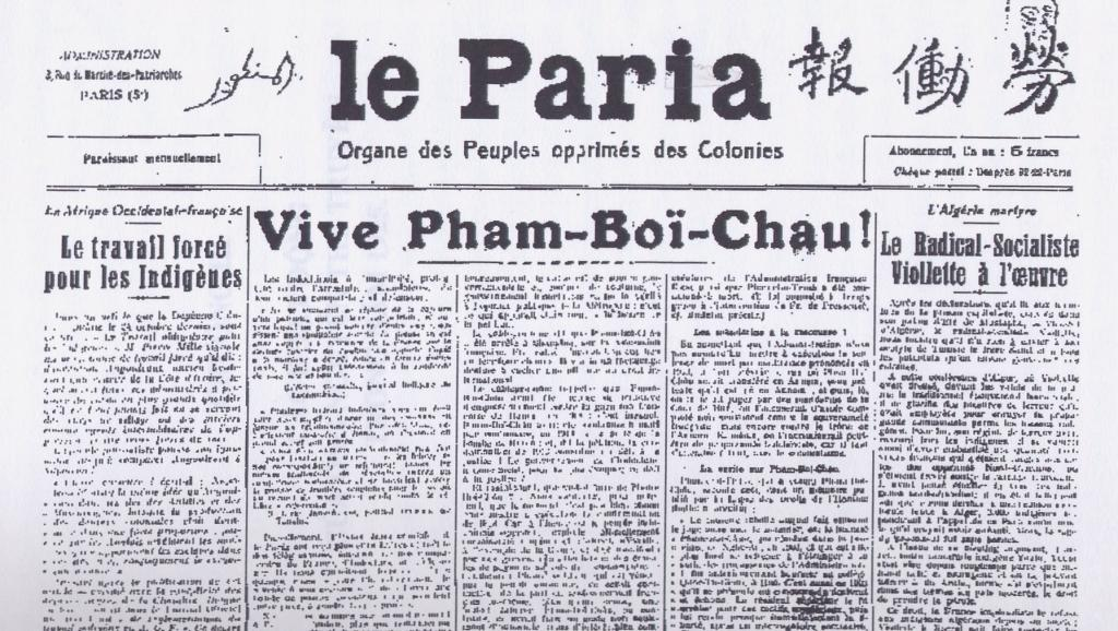 Le Paria (The Pariah), the newspaper founded by Ho Chi Minh under the umbrella of the French Communist Party for a readership of migrants and France's colonial subjects. Keywords: France Islamophobia Algeria history