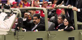 Nicolás Maduro at the funeral of Hugo Chávez in 2013.