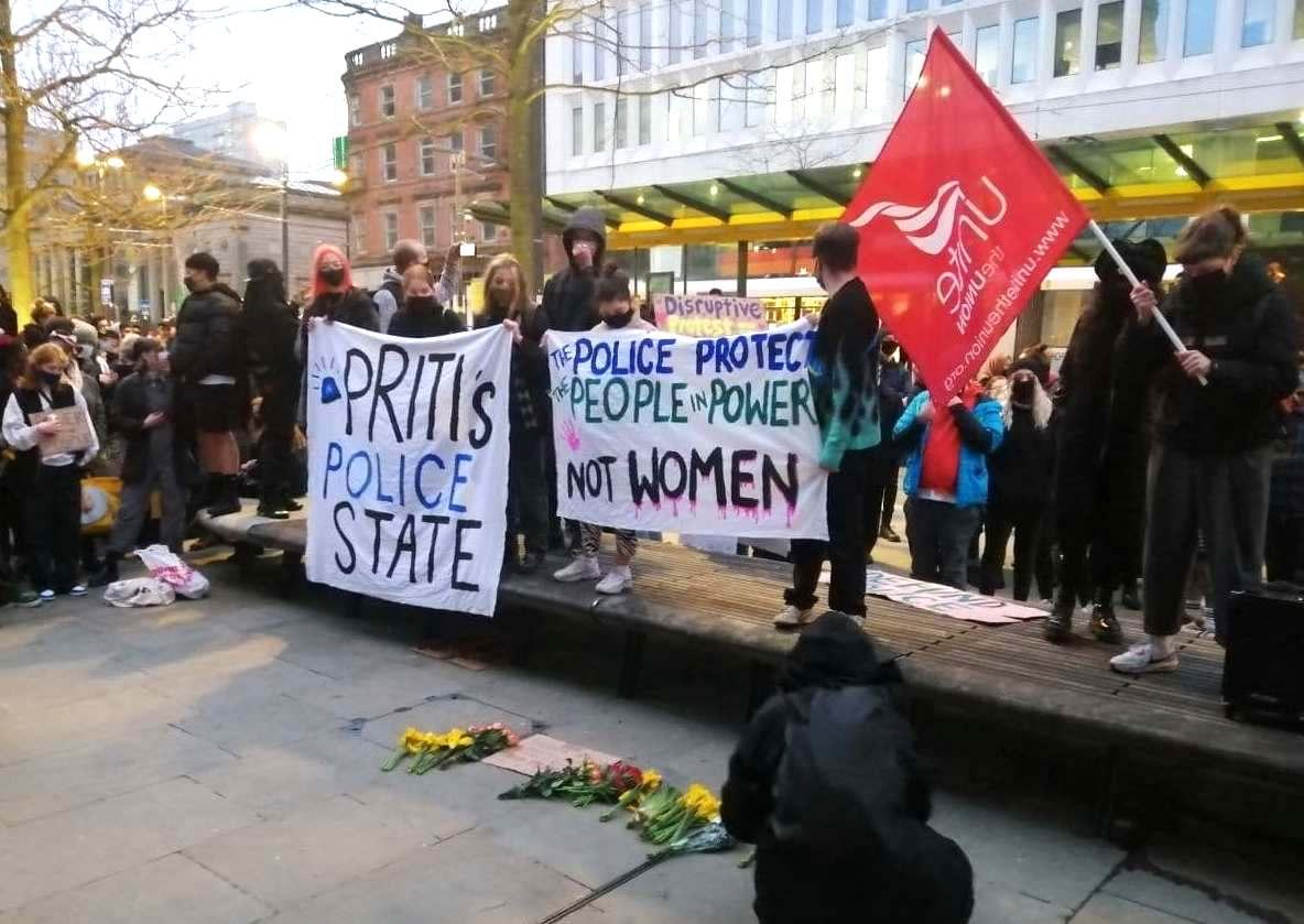 Saturday's Kill the Bill protest in Manchester.