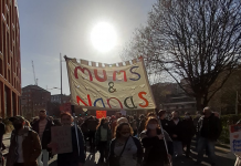 Mums & Nanas bloc at Kill the Bill protest in Bristol