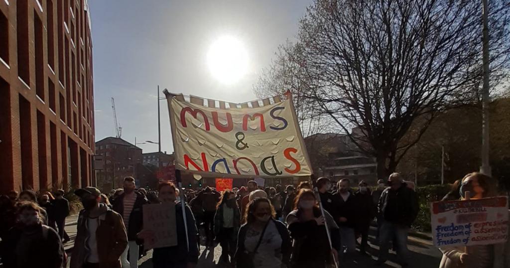 Mums & Nanas bloc at Kill the Bill protest in Bristol