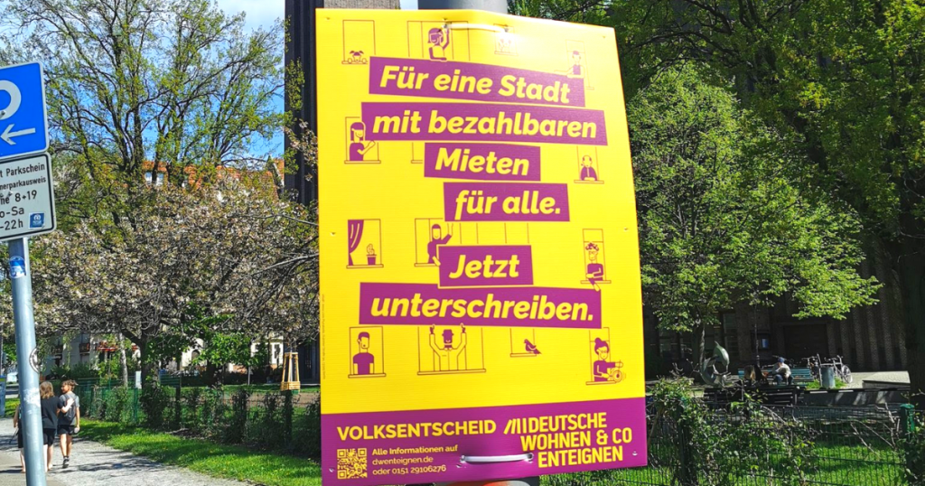Placard in Berlin, translates to: '