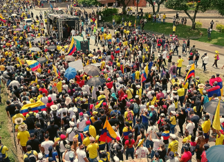 Demonstrators in the nationwide protests against tax reforms